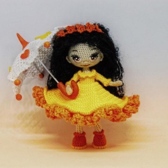 Вязаная крючком куколка-малышка 5