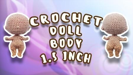 Crochet pattern Curly doll 1,5 inch