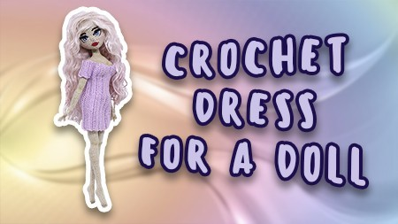 crochet-dress-for-a-doll